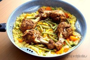 Duszone Palki Z Kurczaka Z Warzywami I Ryzem Dietetyczne I Zdrowe